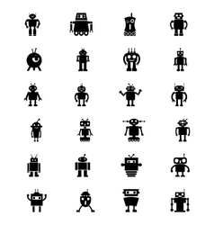 Robots icons 3 vector