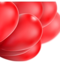 Red glossy balloons eps 10 vector