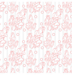beautiful floral seamless pattern with roses on vector image