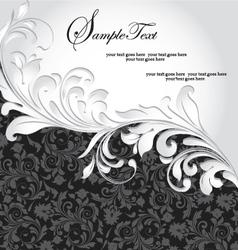 Black and silver invitation card vector