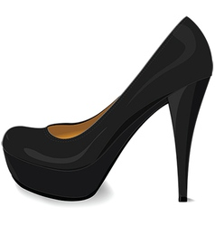 black platform pump vector image