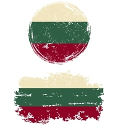 Bulgarian round and square grunge flags vector image