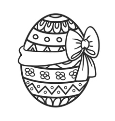 Easter egg with ribbon vector image vector image