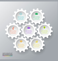 Gears for infographic vector