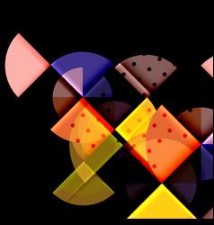 geometric circle abstract banner vector image