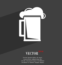 glass of beer icon symbol Flat modern web design vector image
