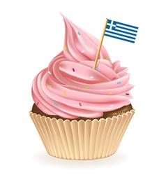 Greek cupcake vector