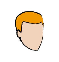head guy cartoon young people profile vector image