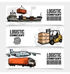 Logistics horizontal banners vector