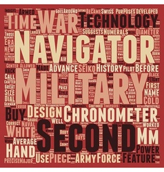 Military watches text background wordcloud concept vector