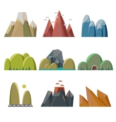 Mountains Isolated vector image