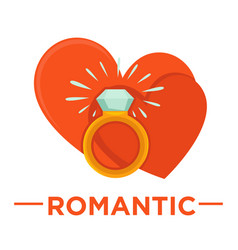 movie genre romatic cinema icon of heart vector image vector image