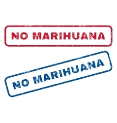 No marihuana rubber stamps vector