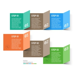 Paper design elements vector image