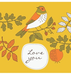 pastel birds print vector image vector image