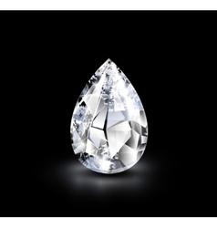 Realistic diamond vector image