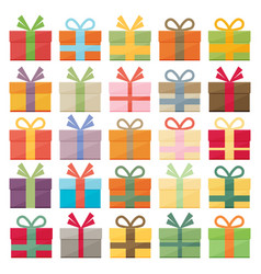Set of icons of gift boxes vector