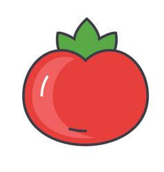 Tomato concept line icon editable stroke vector