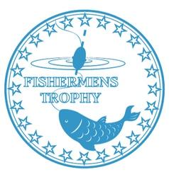 trophy fishermen vector image vector image