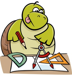 Turtle with calipers cartoon vector