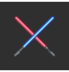 Two light swords vector