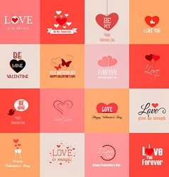valentine cards 2 vector image vector image