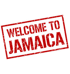 Welcome to jamaica stamp vector