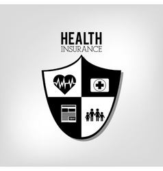 Health insurance related icons emblem vector