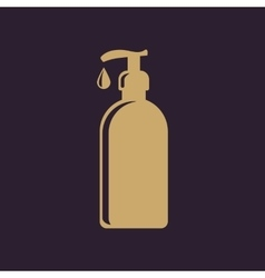The liquid soap lotion cream shampoo icon vector