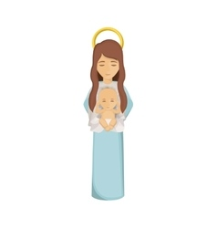Mary and jesus of holy night design vector