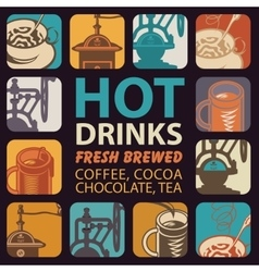 Logo for hot drinks vector