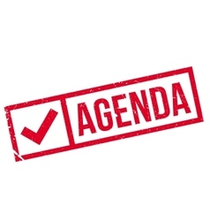 Agenda stamp rubber grunge vector