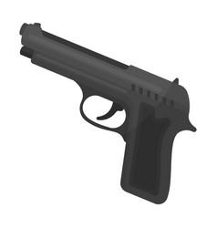 Handgun icon in monochrome style isolated on white vector
