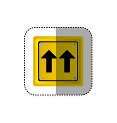 Sticker metallic realistic yellow square shape vector