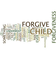 Forgiveness text background word cloud concept vector