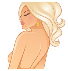 Beautiful blond woman vector