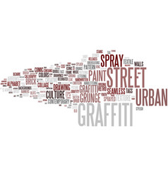 Graffiti word cloud concept vector