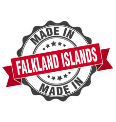 Made in falkland islands round seal vector