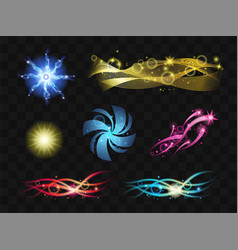 Light effects - set of realistic design vector