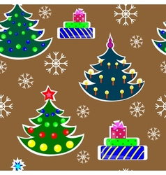 Seamless christmas trees vector