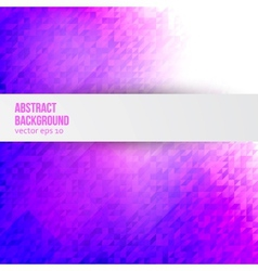 Abstract background triangle and geometric vector