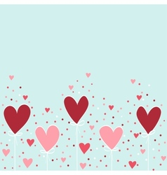 Valentine hand drawing background vector