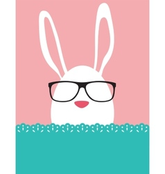 Background and greeting card with hipster easter vector