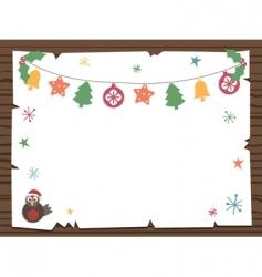 Christmas sign vector image