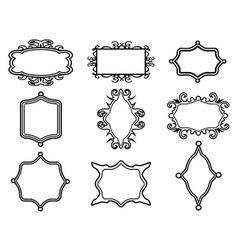 ornamental vintage frame set vector image
