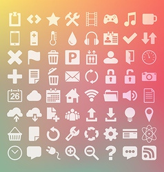 64 universal flat icon set for web desighers ui vector