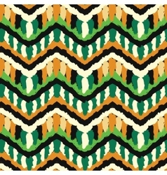 Green and orange hippie pattern vector