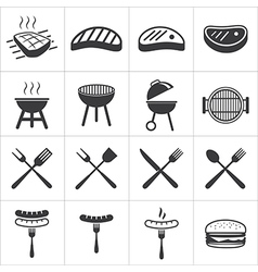 Barbecue icon vector