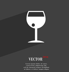 Glass of wine icon symbol flat modern web design vector