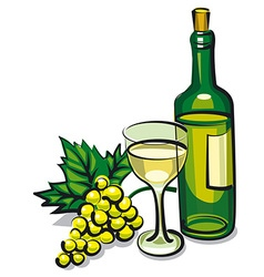 White table wine vector